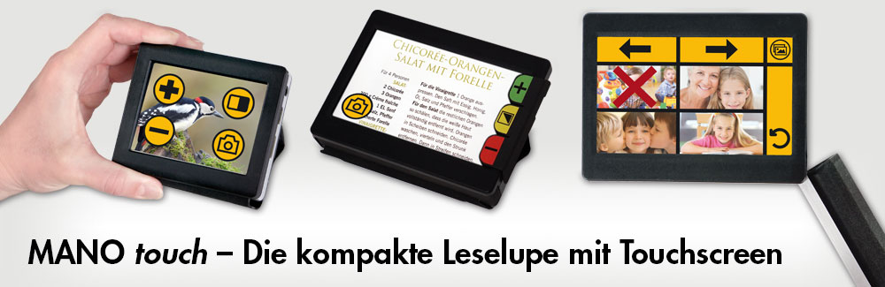 MANOtouch- Die kompakte Leselupe mit Touchscreen